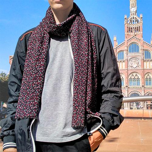 bufanda negra moda sostenible look by lyly