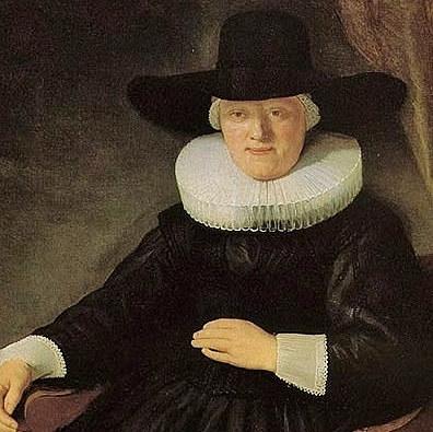 sombrero copa alta  mujer del s.XVII