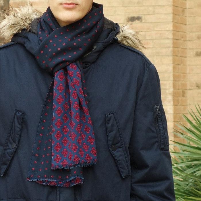fular hombre azul marino moda sostenible look by lyly
