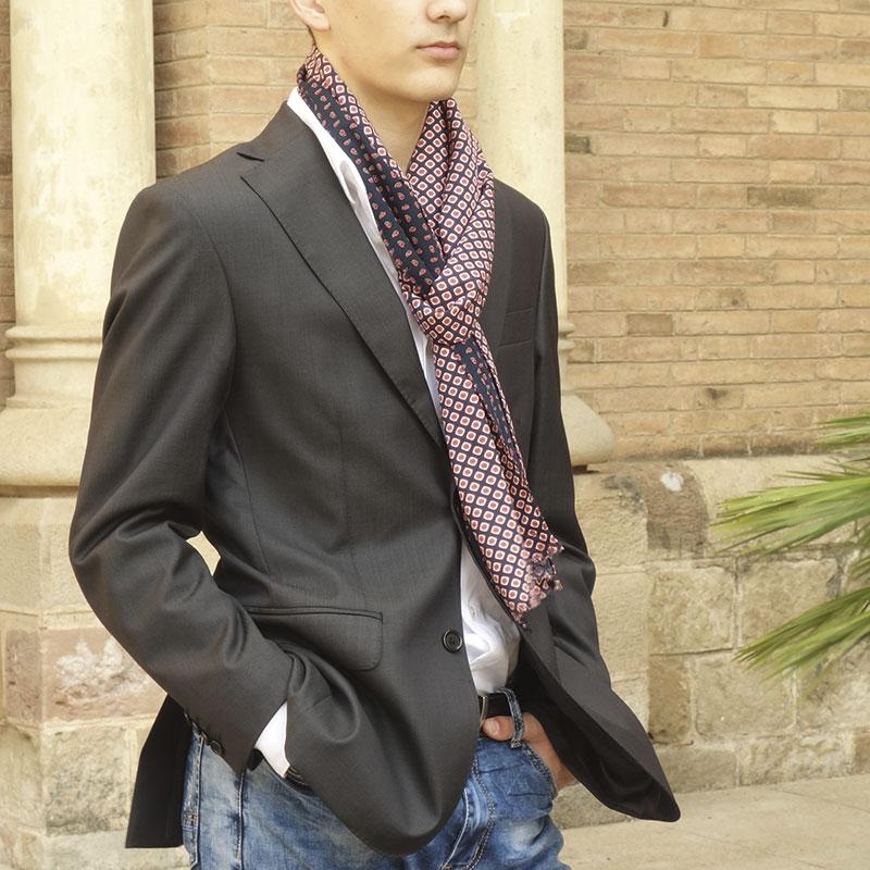 Bufanda hombre elegante moda sostenible lool by lyly