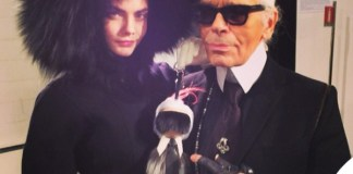 Cara Delevingne Karl Lagerfeld Fendi Bag Boy Karlito Milano Fashion Week