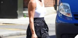 Pippa Middleton abito BCBG Max Azria sandali French Sole orecchini Kinnari borsa Gucci