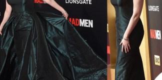 Christina Hendricks Black & Red Ball abito Zac Posen