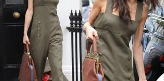 Amal Alamuddin Clooney tuta Sonia Rykiel borsa Lula Queen orecchini Mawi trolley Bric's
