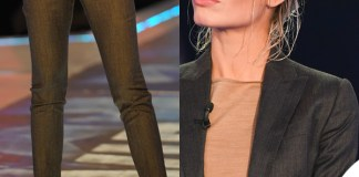Ilary Blasi GFVip 3 puntata tailleur sandali Dsquared2