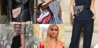 Chiara Ferragni Katie Holmes Bar Refaeli Rosie HW Valentina Ferragni borsa Saddle bag Dior