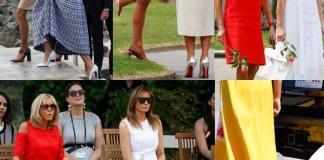 G7 Biarritz Melania Trump e Brigitte Macron