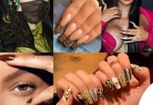 Billie Eilish nail art Gucci Kylie Jenner nail art kylie cosmetics cardi B Beyonce neial art Adidas Jennifer Lopez nail art versace