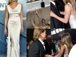 Jennifer Aniston e Brad Pitt ai Sag Awards 2020