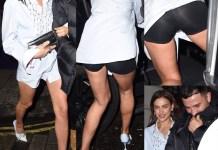 Irina Shayk a Londra con un outfit rivelatore firmato burberry