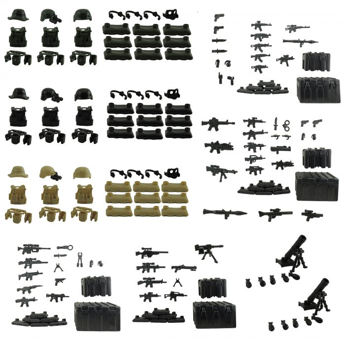 custom minifigures minifig accessories Armor weapons for lego brickarms minifigs army Mega Pack