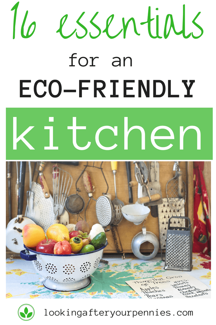Wondering where to start on your journey to becoming more environmentally conscious? Well I recommend the kitchen. Check out these 16 essentials for an eco-friendly kitchen. #ecoliving #zerowaste #moneysaving #lookingafteryourpennies