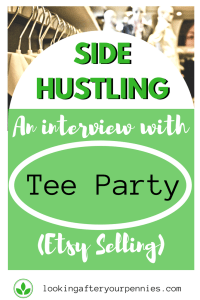 """Third part in my series """"Side Hustling."""" This edition comes from Laura who talks about how to make a profit from Etsy selling. #etsy #sidehustle #lookingafteryourpennies"""
