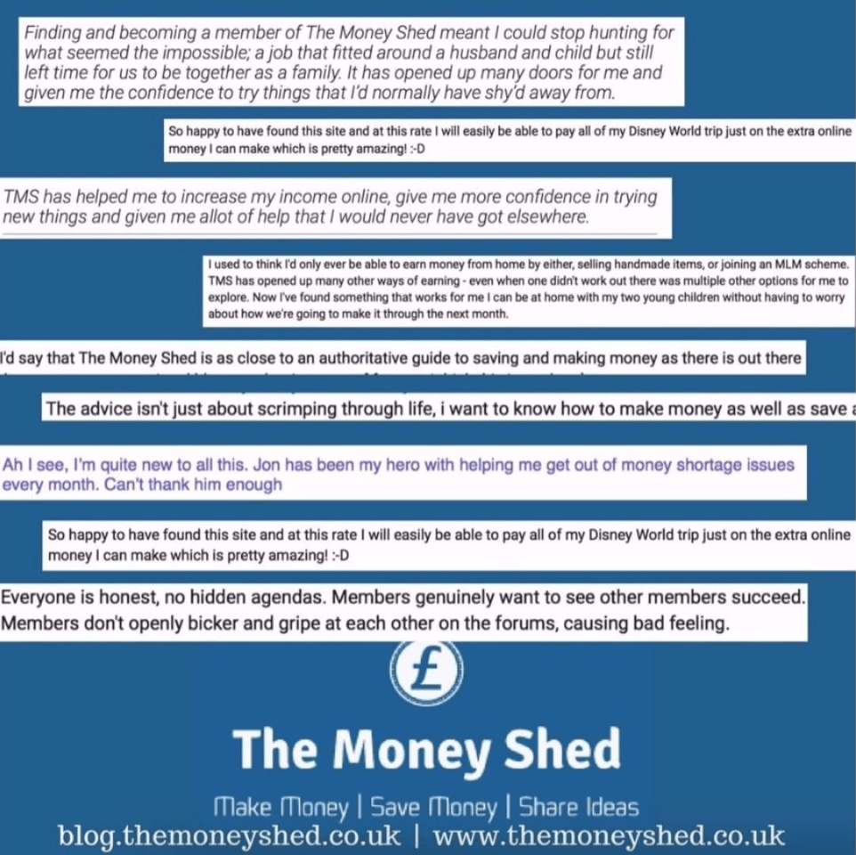 the money shed testimonials