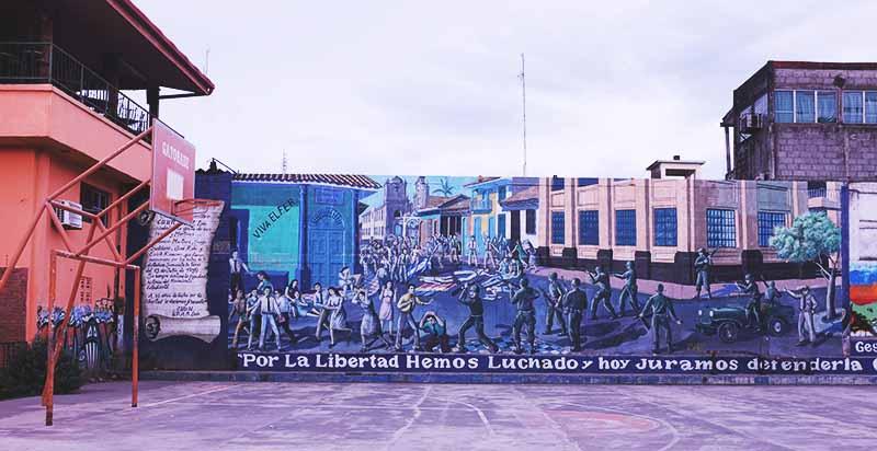 Mural da morte dos estudantes Sergio, Erick, Jose e