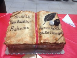 """Book Cake! It says, """"Education is the key of knowledge"""". A noble sentiment."""