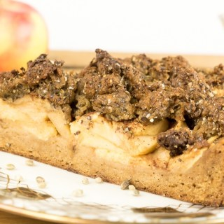 Apple Crumble Cake with Crunchy Whole Hemp Seeds
