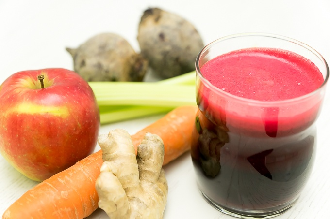 Ruby Red Beet Juice with Ginger