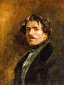 Eugène Delacroix - A self-portrait of the Artist, 1837