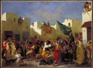 Eugène Delacroix - Fanatics of Tangier, 1838