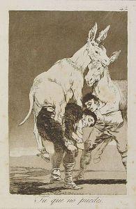 Francisco de Goya - Tu que no puedes