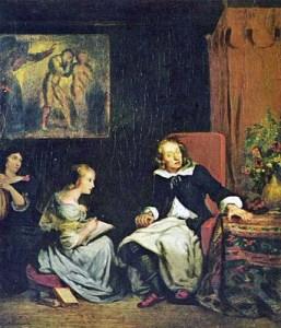 Eugène Delacroix - Milton Dictating Paradise Lost to his Daughters, 1827