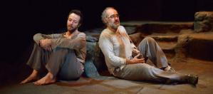 Ferran Carvajal and Francesc Orella in L'Estranger, a Catalan play adaptation of Camus' novel