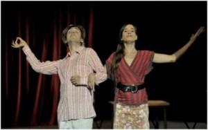 Jordi Vidal and Laura Guiteras star in À la ville de ... Barcelona. Photo: David Ruano