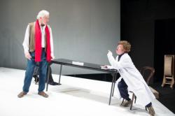 Edward Petherbridge and Paul Hunter on Michael Vale's slanted stage.