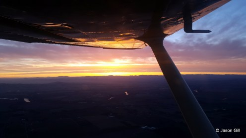 Sunset Under Wing (2)