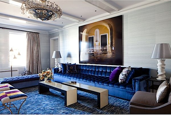 Cobalt Blue, pikowana kanapa