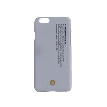 etui na telefon iPhone z napisem