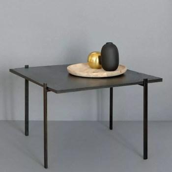 skife - stolik kawowy z czarnego łupku