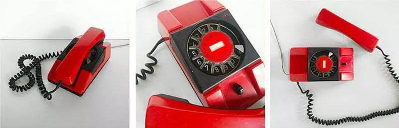 telefon z PRL - bratek czerwony