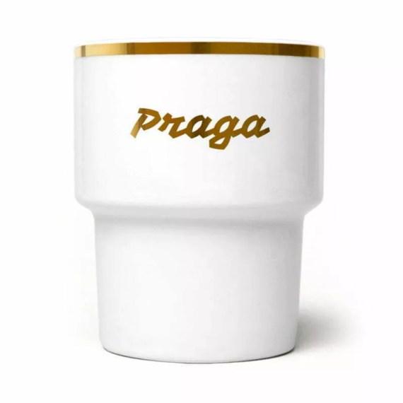 kubek ze złotym napisem Praga, MamSam