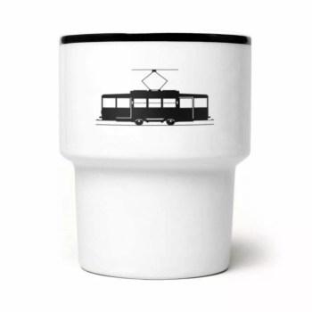 kubek MamSam z tramwajem, autor: Janek Rygiel