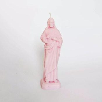 świeczka Jezus różowa