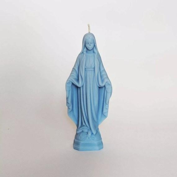 świeczka maryjka duża błękitna