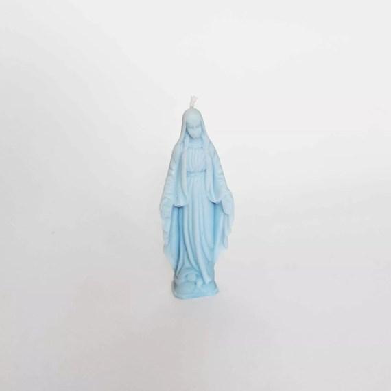 świeczka maryjka niebieska