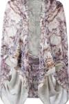 Kimono De Seda Estampado - Alexander Mcqueen