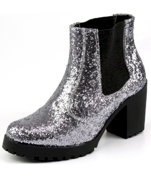 Bota Star Flex Glitter Prata - Star Flex