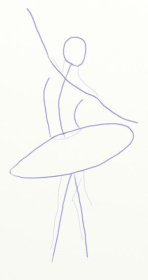 как нарисовать танец вальс поэтапно