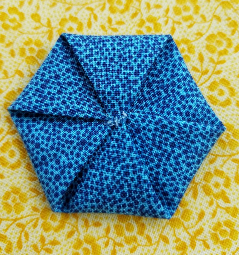"Here's a Fun ""Take Along"" Project, Folded Hexagons"
