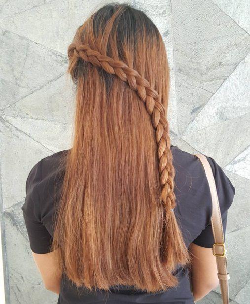 прически с косами с распущенными волосами фото