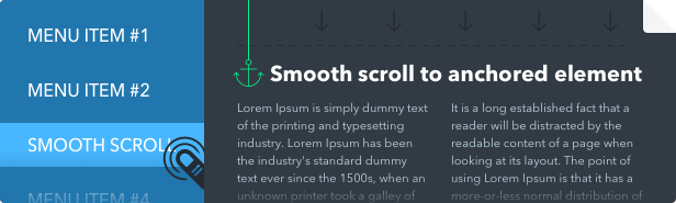 Superfly WordPress menu plugin smooth scrolling