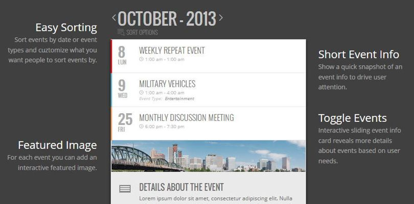 EventOn WordPress Calendar Preview