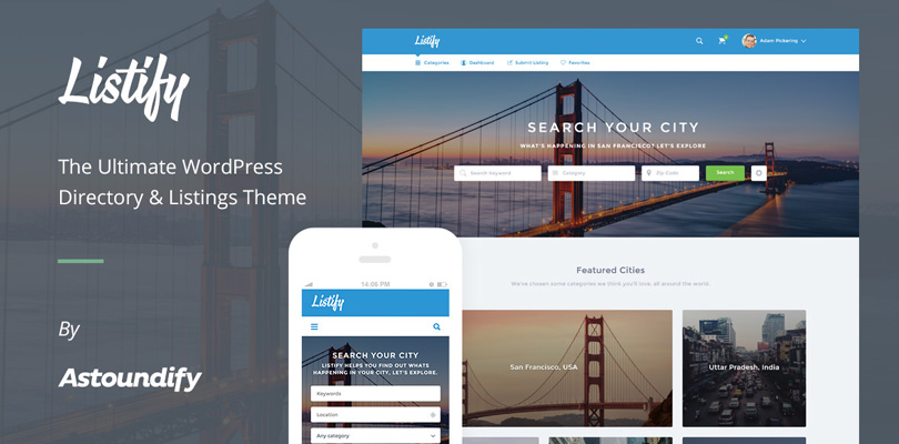 Listify WordPress Directory Theme