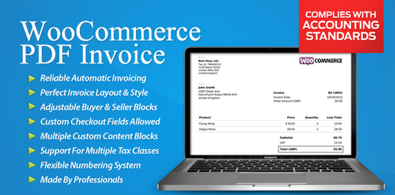 WooCommerce PDF Invoice WordPress Plugin