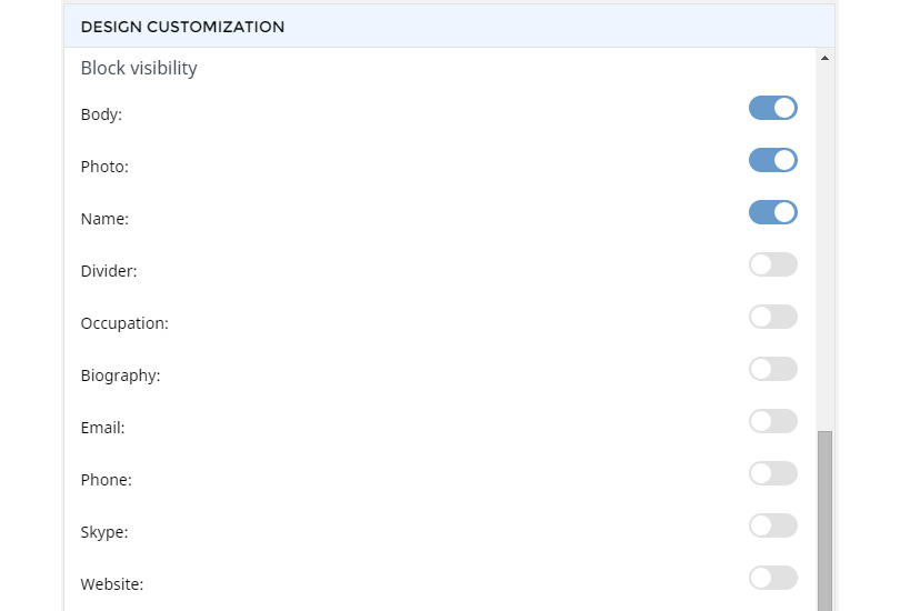 Team Builder Customization