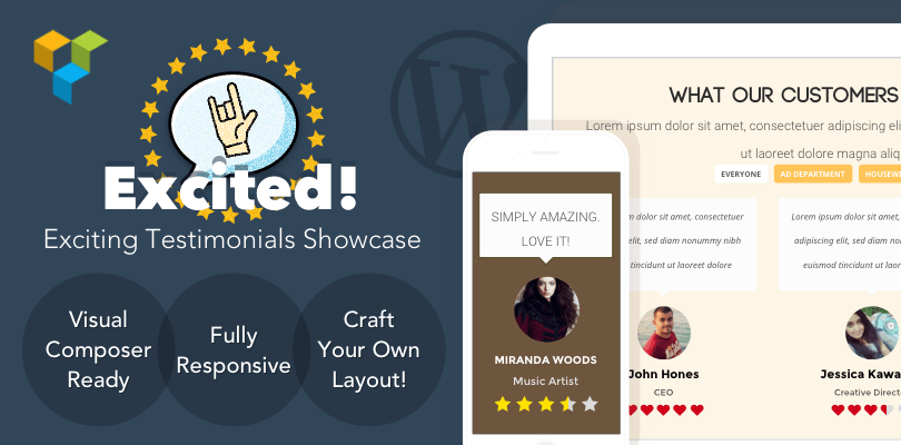 Excited Testimonials Showcase for WordPress Banner